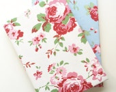 Cath Kidston Fabric Covered A5 Hard Cover Notebook - rosali fabric, lined notebook, fabric journal