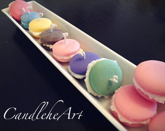 Macaron Soy Candles -Set of 4