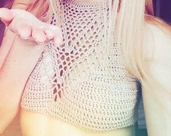 Top of crochet or crochet Basic. Black and white