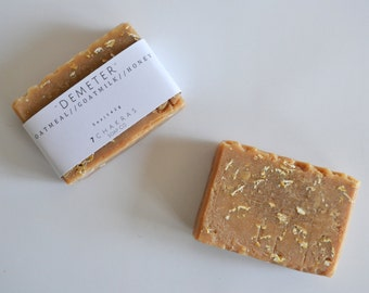 Oatmeal Milk and Honey Soap, Goat Milk Soap, Soothing