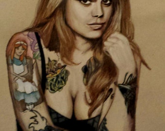 Portraits, Faces, Drawing, Artwork, Colored Pencils, Commissioned Art
