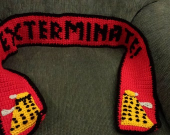 EXTERMINATE Dalek Scarf, Doctor Who