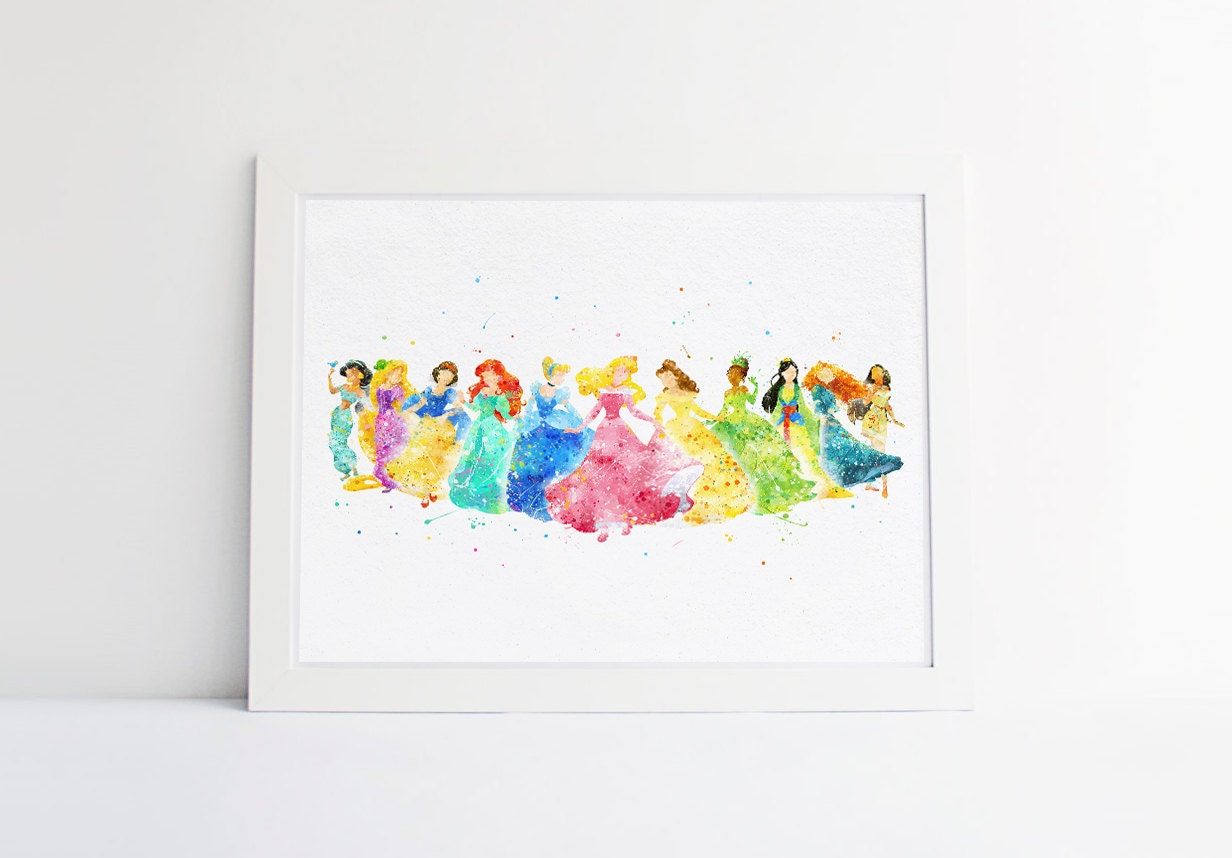Disney Princess Collection Disney Watercolor Nursery Princess