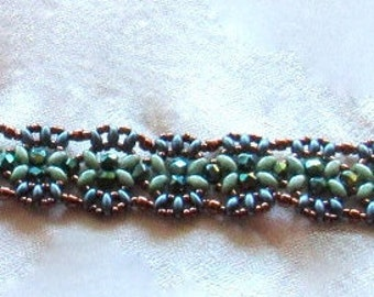 "Blue and Turquise ""Indian Bracelet"""