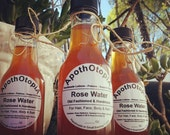 Organic Rose Water - Old Fashioned Skin Care - Facial Toner, Hair Rinse, Bath Soak, Body Mist, Sustainable, Fair Trade, Eco Friendly