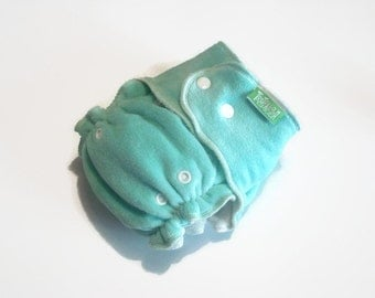 "Bamboo cloth diaper ""Turquoise Beauty"""