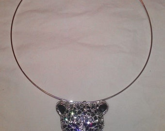 Swarovski Crystal Jewelry - Jaguar or Leopard Necklace FREE SHIPPING