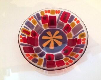 SALE! Fused Glass Decorative Bowl