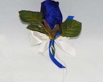 Beautiful Blue Flower Bouttoniere