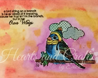 Her Own Wings - 8x10 Matted Water-colored Photo (MAT-WCP-0009)