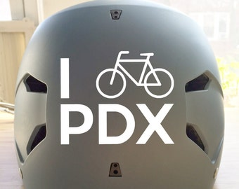I Bike Portland decal