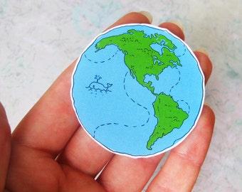 Planet sticker. Adventure time. Earth. Laptop sticker. Vinyl sticker. Funny sticker. Cute sticker. Traveler. Travel sticker. Inspiration