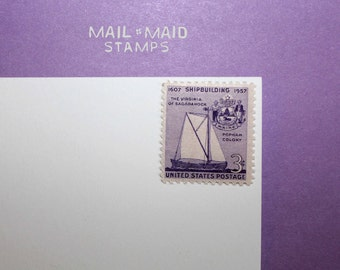 Anniversary of Shipbuilding || Set of 10 unused vintage postage stamps