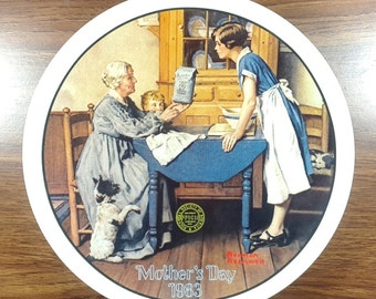 Mother's Day Norman Rockwell Plate Knowles China
