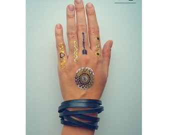 Stylish Bracelet, Mens Women Bracelet, handmade Genuine Leather 2 turns bracelet (wristband, bangle)