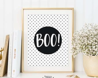 Boo Printable, Halloween Printable, boo print, 8x10 Instant Download, halloween decor, typography, halloween wall art, halloween print