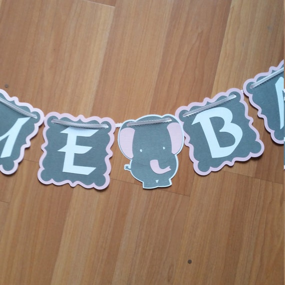 Baby Shower Custom Banners: Elephant Baby Shower Banner Baby Shower Banner Custom Custom