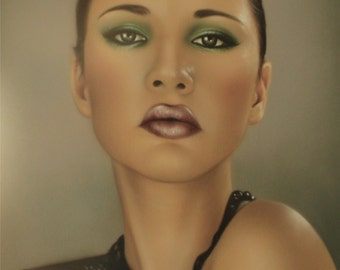 Green eyes (airbrushing)