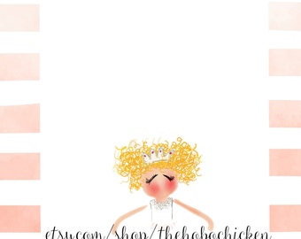 Pink Ballerina Downloadable Invitation/Notecard