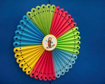 PERSONALIZED PAPER ROSETTES - Wall/Party Decor