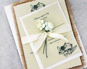burlap wedding invitations rustic wedding invitations barn wedding invites barn wedding wedding