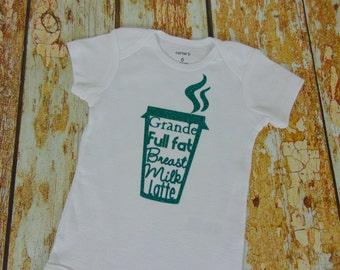 Breastmilk Latte Bodysuit, Grande Breastmilk Latte, Breastfeeding Bodysuit, Breastmilk Bodysuit