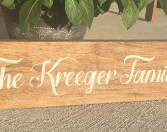 Family Name Sign, Custom Wooden Family Sign, Wooden Signs for Home, Wedding Gift, Personalized Family Sign