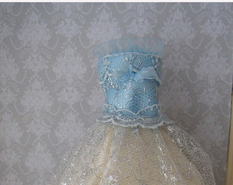 Dress in miniature scale 1:12. Exclusive desing. Handmade