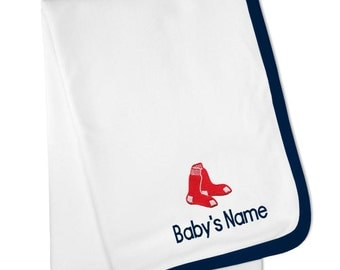 Personalized Boston Red Sox Baby Blanket
