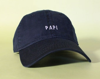NEW Papi Baseball Hat Dad Hat Low Profile White Pink Black Casquette Embroidered Unisex Adjustable Strap Back Baseball Cap