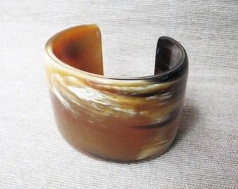 Buffalo horn cuff bracelet, wide cuff bracelet, thick cuff bracelet, horn bracelet, cuff bracelets, handcrafted bracelet