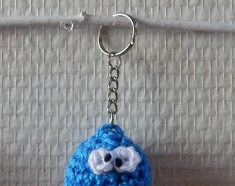 Keychain amigurumi crochet - Cookie monster
