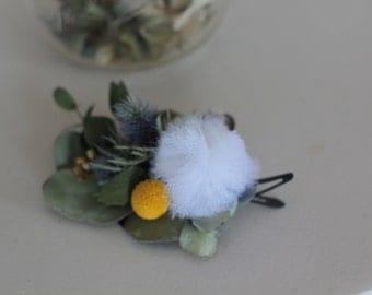 Dried flower Barrette