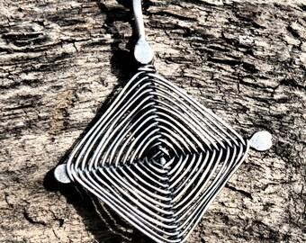 Ojo de Dios Sterling Silver Pendant