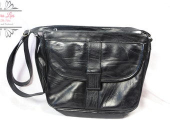 Vintage Black 80s Shoulder Bag