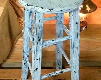 Rustic aged stools