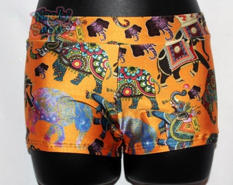 Namasté - Indian Elephant - Wacki Shorts  - Cheer, Gymnastics, Yoga, Dance, Hooping