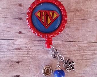 Super RN retractable badge clip holder
