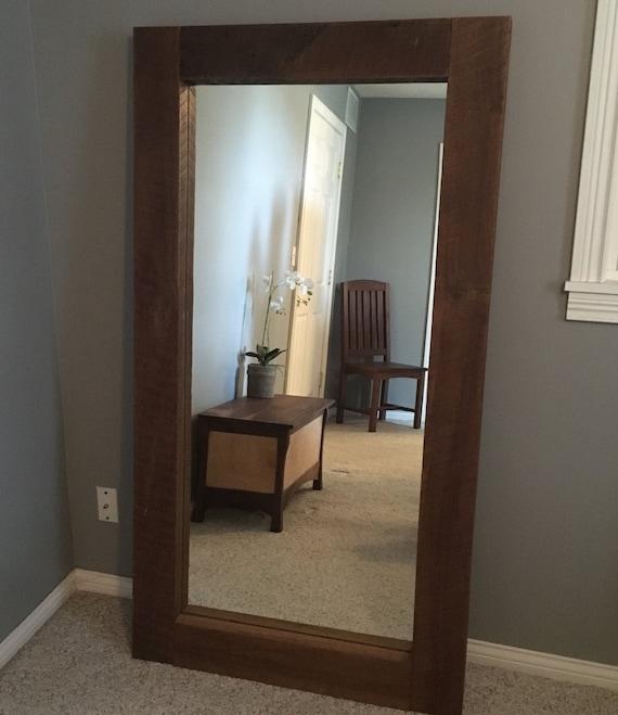 Rustic Floor Mirror Reclaimed Wood Mirror Full Length
