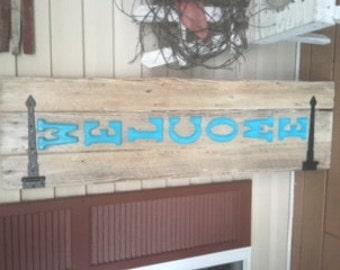 Handmade natural wood signs