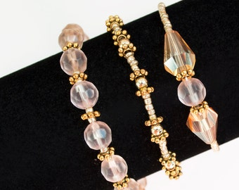 Blush and Gold Bracelet Set
