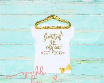 Limited Edition- Baby girl clothes - Girls Outfit - Trendy Girls Shirt  - Kids Clothing - Kids Shirt -Little Girls Shirt - Fashion Tee