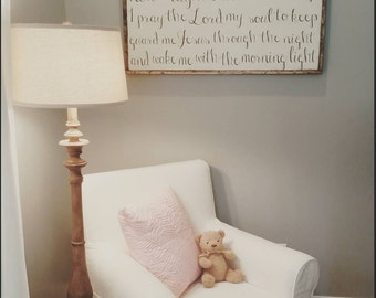 Now I Lay Me Down to Sleep Nursery Bedtime Prayer Sign