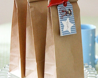 Kraft Paper Bags - Poly Lined