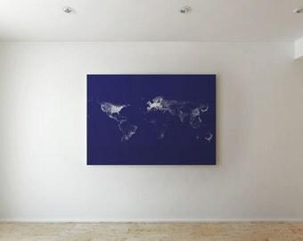 Continents - Canvas decor