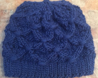 Gorgeous Hand Knit Wool Hat
