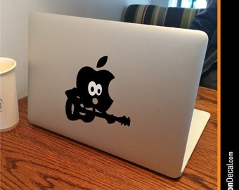 """GUITAR Apple MacBook Decal Sticker fits 11"""" 13"""" 15"""" and 17"""" models"""