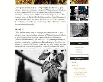 Premade Blogger Template Responsive Minimal Blogspot for Lifestyle, Fashion, Book, Travel, Food Blogger with Free Installation - Penchant