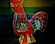 Rooster Art - Wildlife Prints - Farm Animals - Home Decor - Instant Download