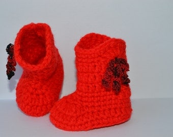 Cowboy boots, Red baby cowboy booties, Baby booties